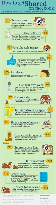 How to get shared on Facebook #infographic
