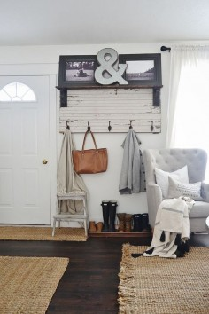 How to Get Your Home Ready For Fall #theeverygirl - love this small entryway for a small apartment without a real mudroom; also love a lot of the other ideas in here
