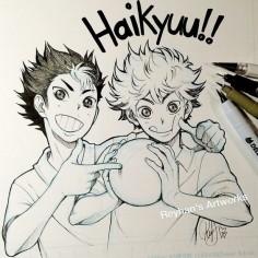 HQ!! - Nishi and Hinata