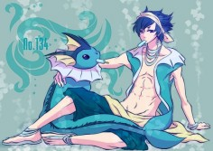 human version gijinka pokemon, vaporeon