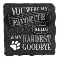 "I absolutely love this pet memorial ""You were my favorite hello and my hardest goodbye"". For all pet lovers who have lost the unconditional love of a furry  I for you:)"