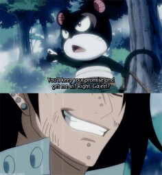 I knew Gajeel would finally find his flying