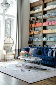 I like this blue sofa