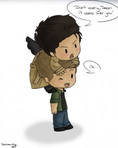 I love Cas and Dean chibis! ♥