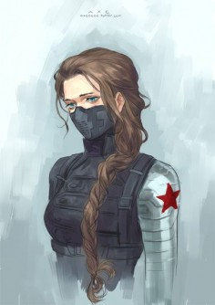 I might have to be the Winter Soldier for Halloween this year. (Gorgeous artwork, by the way.)