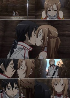 I most likely uploaded this a million times, but who cares!!! It's Asuna x Kirito ♥ (first kiss)