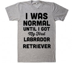 i was normal until i got my first Labrador Retriever dog t-shirt