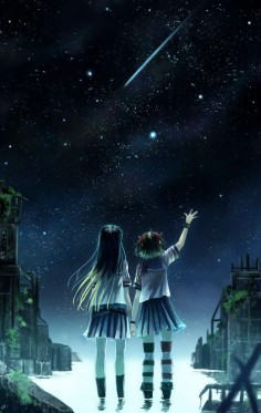 I will hold on to the stars next to my dear soulmate. And let´s walk toghether and support each other. Please don´t ever leave me.