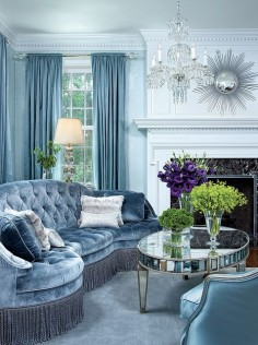 Icy blue living room by Nancy Hill Interiors. Via Boston Design.