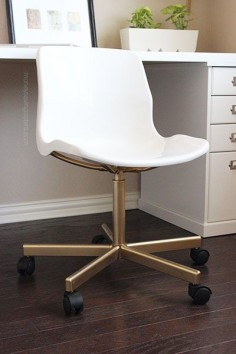 IKEA Hack: Make the $20 SNILLE Chair Look Like an Expensive Office Chair! | Money Saving Sisters