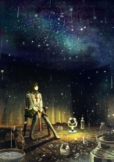 ③星のような雨のような処理 #illustration