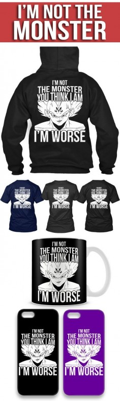 I'm Not A Monster Shirts! Click The Image To Buy It Now or Tag Someone You Want To Buy This For. #dragonball