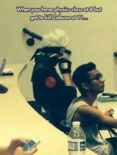 I'm pretty sure Zabuza is at McDonald's right now while kakashis at class