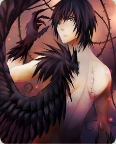 I'm zulo. I'm half angle half demon . My wings are black . One wing was stolen from me . I'm an outcast . Not welcomed with the angels or Demons