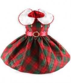Image detail for  Christmas_Plaid_Sleeveless_Christmas_Dress,_Beaded_-_Red_and_Green