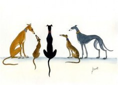 Image detail for -GREYHOUND LURCHER WHIPPET DOGS ART 6200 Dianne Heap | eBay