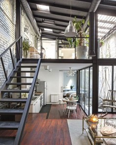 Industrial style. Tiny home.