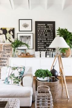 Inspiration exotique pour votre décoration ! #dccv #ducôtédechezvous #plante #vert #green #deco #design #amenagement #inspiration