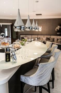 Interior Design - Kitchen bar stools , colour scheme ,and bar on island