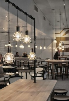 Interior with Work lamps by Form Us With Love for Design House Stockholm.