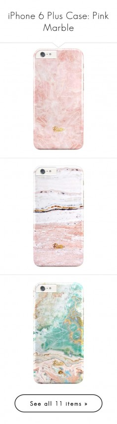 """iPhone 6 Plus Case: Pink Marble"" by palettoshop on Polyvore featuring giftguide, iphonecase, holidays, marble, iphone6plus, accessories, tech accessories, iphone sleeve case, iphone cover case and iphone case"