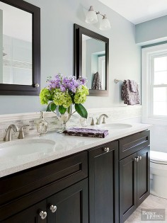 It doesn't matter if your bathroom is big or small, you'll be inspired by these stunning bathroom paint colors and color schemes. This roundup is filled with ideas for neutral bathrooms that will make your master bathroom feel relaxing.