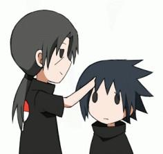 Itachi and Sasuke poke~hanyuu