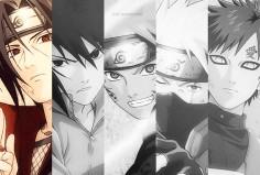 Itachi, Sasuke, Naruto, Kakashi, and Gaara.