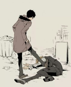 Izaya and Shizuo - Durarara #DRRR #anime