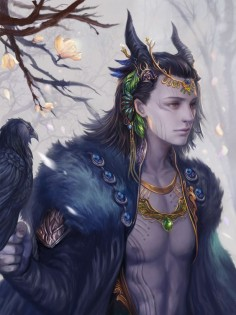 Jotun loki by *jiuge on deviantART. I really, REALLY hope we get to see Loki in his natural form in Thor 2!