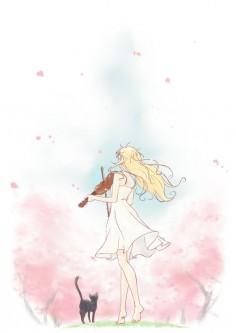 Just finished your lie in april :'( | Miyazono Kaori | Anime art
