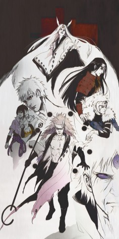 Kaguya, Hashirama, Tobirama, Obito, Sasuke, Naruto, Madara and Sage of six Paths