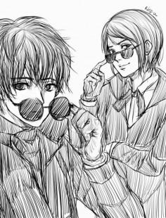 Kaneki and Furuta