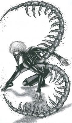 Kaneki Ken_Centipede by Slenderhand || Tokyo Ghoul Follow me on Facebook @