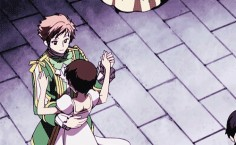 Kaoru and Hikaru dancing with Haruhi.