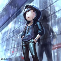Karamatsu>>> i think he actually looks cool here, though he always look cute(notreallycoolbutreallycute) to me.