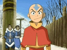 Katara and Sokka in the back XD