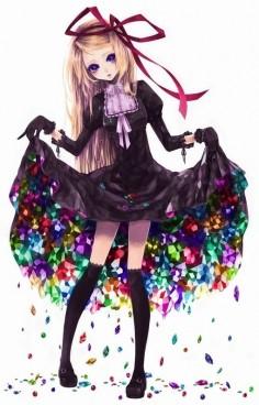 Kawaii anime girl meu projeto de vestido