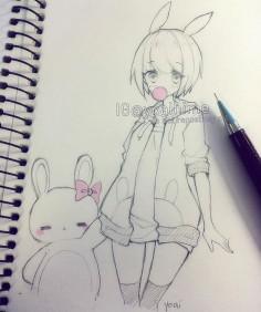 Kawaii bunny girl