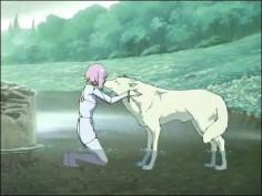 """Kiba and Cheza of """"Wolf's Rain"""""""