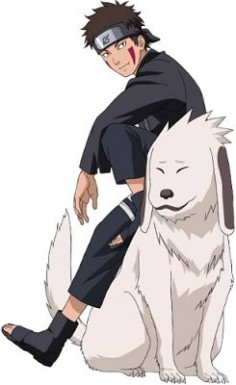 Kiba Inuzuka and his partner Akamaru