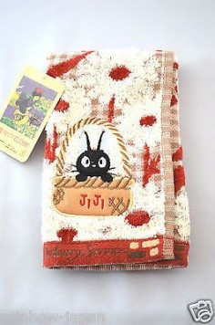 Kiki's Delivery Service JiJi Hand Towel 33 x  Studio Ghibli From Japan