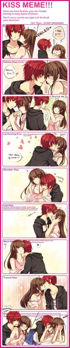 KISS MEME WITH WAIFUUUU by omocha-san on  I want a boyfriend who will give me Eskimo kisses:(