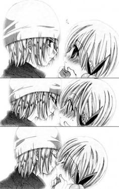 kissing - Kamichama Karin Picture