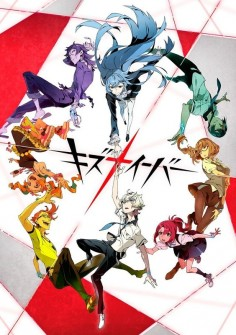 """Kiznaiver"". An anime about how 7 high school students portraying different personalities are forced to participate in the ""kizuna project"". In order to successfully go through the project, they need to survive the entire summer break and also by clearing missions. Now, will they be able to come together, and form bonds? (SYL)"