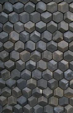 Klinker geometric wall facade