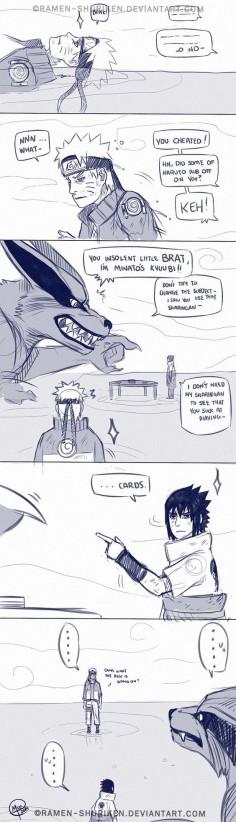 Kurama, naruto, sasuke