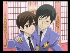 Kyoya and Haruhi from the Ouran DS game