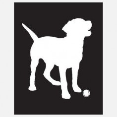 Labrador Silhouette Black now featured on Fab.