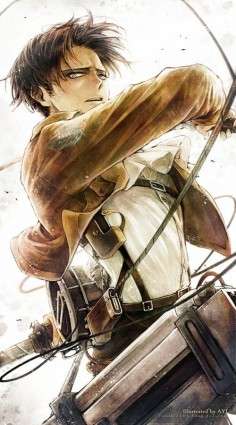 Levi Ackerman - Attack on Titan/Shingeki no Kyojin anime art